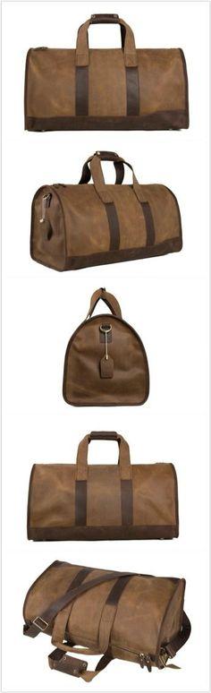 Super Large Leater Overnight Bag Duffle Bag Laptop Weekend Bag Men's Travel Bag Good Leather Design Men's Fashion Bag