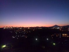 Sunset from my home ...