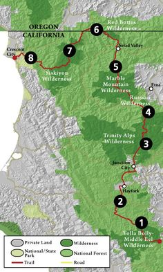 Explore the different regions and environments along the Bigfoot Trail Park Trails, Hiking Trails, Trinity Alps, Junction City, Redwood Forest, Crescent City, Forest Park, Bigfoot, National Forest
