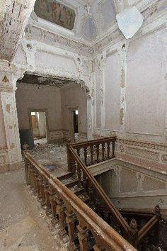 Abandoned mansion, Rossendale, Lancashire, England. It was originally a house, then an elderly care home, and finally a wedding venue. It was built in the late 16th century.