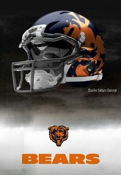 8c62a821f7 New concept helmet Chicago Bears Helmet