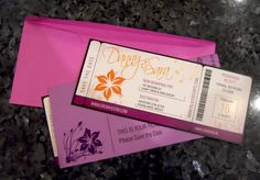 love love love these.  great idea to use the ticket jacket for more info