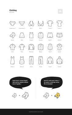Clothing Icons. Clothes Icons. $12.00