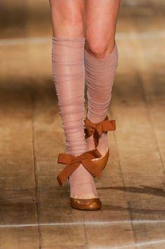 DIY idea: make legwarmer/knee socks from old stockings.