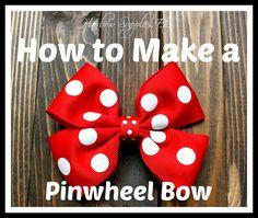 How to Make a Pinwheel Hair Bow - Hairbow Supplies, Etc.
