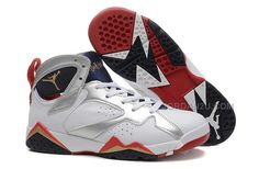 "sports shoes 30028 f47a7 Buy Air Jordan 7 Retro ""Olympic"" White Metallic Gold-Obsidian-True Red Sale  Basketball Shoes from Reliable Air Jordan 7 Retro ""Olympic"" White Metallic  ..."