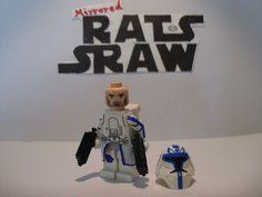 Lego Star Wars minifigures - Clone Custom Troopers - Captain Rex Snow Assault