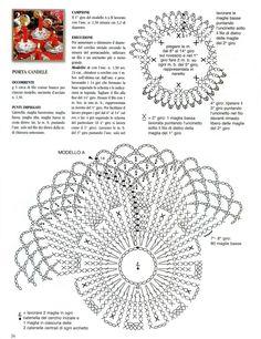 Diy Crochet, Crochet Doilies, Crochet Decoration, Handicraft, Table Runners, Crochet Earrings, Candle Holders, Crochet Patterns, Christmas Decorations
