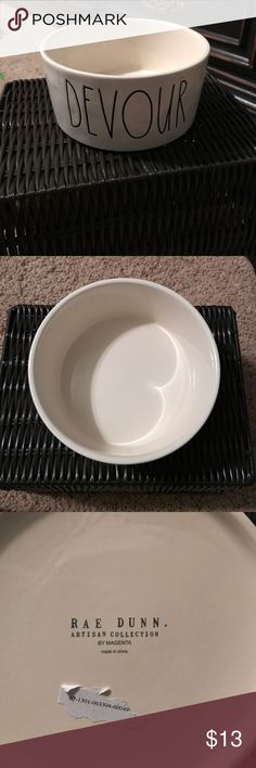 Rae Dunn dog bowl Rae Dunn devour dog bowl rae dunn Other