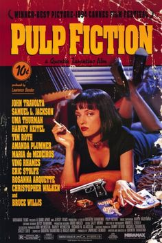 "MP248. ""Pulp Fiction"" Movie Poster by Tarhan Creative (Quentin Tarantino 1994) / #Movieposter"