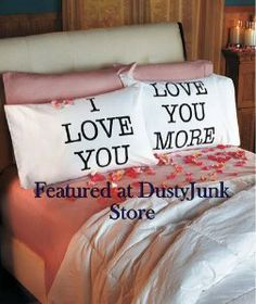 Amazon.com: Love You & Love You More Pillowcases: V-day Gift: Everything Else