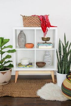 See 20 of the best Ikea Kallax Hacks ideas and the different ways you can DIY them for your home. This mid century kallax hack idea is perfect for the any space in your home particularly the living room, entry way or bedroom.