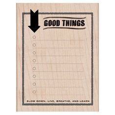 Good Things Rubber Stamp Woodblock Craft Stamp by iluvdesign, $10.95