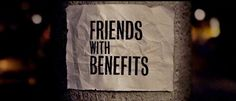 Friends With Benefits references Rom Coms but does that be it is more than just one? Crave You, All The Small Things, Dating World, Friends With Benefits, Losing Me, Cravings, How To Memorize Things, August 22, Films