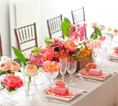 Wedding Table setting for summer