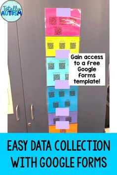 learn all about data with google forms by using free visual directions. Also gain access to a free google forms template #googleforms #abadata #autismclassroom