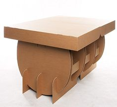 CUTTING TABLE No. 1 a transportable aeroplane-friendly modular cutting-table for designers and students alike. Cardboard Chair, Diy Cardboard Furniture, Cardboard Sculpture, Cardboard Crafts, Pallet Furniture, Furniture Projects, Paper Crafts, Types Of Furniture, Unique Furniture