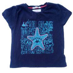 0fba72c32fd Mantaray Baby Girls T Shirt Top Pink Sequin Starfish Blue 18-24 Months |  eBay