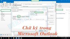 Cách tạo và thêm chữ ký trong Microsoft Outlook 2010 đến 2016 Microsoft, Offices, Messages, Desks, Text Posts, Office Spaces, Bureaus, The Office, Corporate Offices