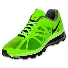 Nike Air Max+ 2012 Men's Running Shoes Green/Black