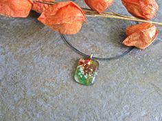 Hand Made Fused Glass Necklace Choker by Glassimo on Etsy