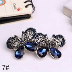 Hair Clips Girls For Women With Crystal embedded Flower 2eb614d0d533