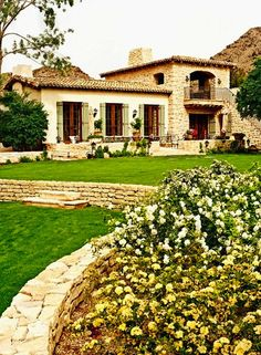 Contemporary farmhouse exterior design reflects the whole type of the space and the tradition. And these Mediterranean farmhouse exterior are fantastic examples for how to create a home designed. Mediterranean Style Homes, Spanish Style Homes, Spanish House, Spanish Colonial, Mediterranean Architecture, Spanish Revival, Spanish Exterior, Spanish Design, Spanish Architecture