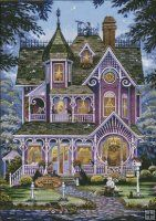 Village Bookstore [SPANGLER1253] - $9.50 : Heaven And Earth Designs, cross stitch, cross stitch patterns, counted cross stitch, christmas st...