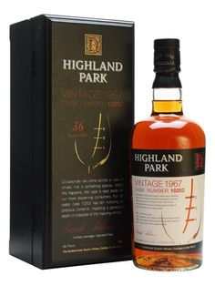 A rare single cask 1967 vintage Highland Park, bottled at 36 years old and selected for their 'more discerning customers'.