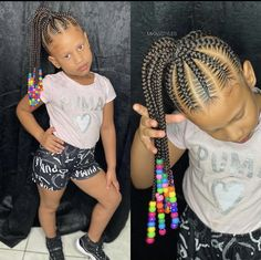 50 absolutely cute kids braided hairstyles with beads your little ones will love. Natural Hairstyles For Kids, Braided Hairstyles For Black Women, Little Girl Hairstyles, Down Hairstyles, Kids Hairstyle, Kids Braids With Beads, Braids For Kids, Kanekalon Braids, Braid Accessories