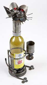 Yardbirds® Wine Caddies at Shop Handmade. Cat Drinking - 7.5x6.5x15 (LxWxH)