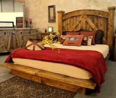 Home Interior, Rustic Furniture – The Classic Interior Design in Modern Days: Bed Design With Rustic Furniture Log Bedroom Furniture, Home Bedroom, Rustic Furniture, Bedroom Decor, Furniture Ideas, Western Furniture, Bedroom Ideas, Furniture Nyc, Furniture Dolly
