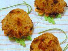 Tortini di riso basmati peperoni curry e zenzero