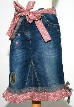 Jeansrock Herzblümchen