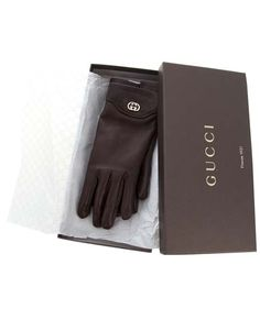 Leather Gloves | GUCCI Leather gloves – Brown - Accessories Trends