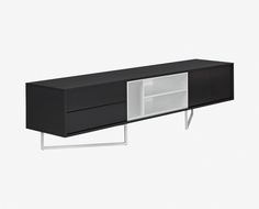 ... squares make the Conner media stand a geometric masterpiece for your living or entertaining space. Two drawers one large cabinet with double doors flank ... & Meidan 2-Door Cabinet from Scandinavian Designs Mid-century modern ...