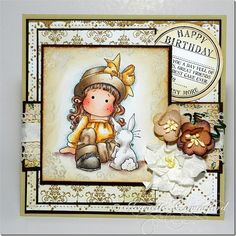 Tilda and her bunny, Butterfly wishes collection, Magnolia stamps