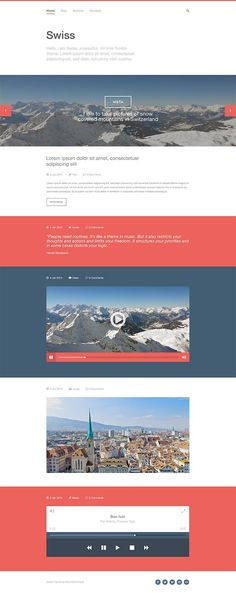 Swiss design has been inspiring for years. Taking a page from simple, Swiss style, the elements from this psd website template are minimally designed.