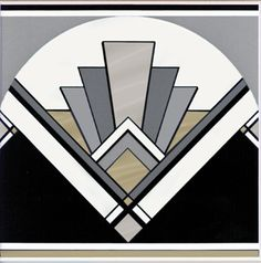Original Style Artworks Art Deco Fan 152 x 152mm www.tilesandbathroomsonline.co.uk