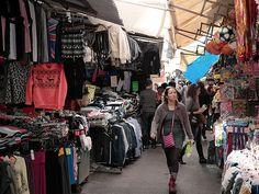 Tel Aviv, Israel - Public Spaces, Carmel Market (Shuk HaCarmel) (שוק הכרמל), Allenby Street and Magen David Square (תל אביב, ישראל) #CarmelMarket #ShukHaCarmel