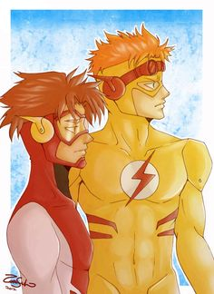 Impulse - Bart Allen and Kidflash - Wallace West