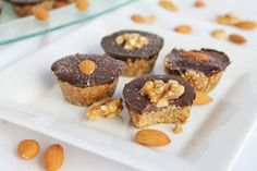 Raw Coconut Peanut Butter Cups with Chocolate DELICIOUS! I used a little extra peanut butter, melted my chips with some coconut oil in microwave. Made 9 candies. Desserts Crus, Desserts Sains, Raw Desserts, Just Desserts, Healthy Desserts, Raw Food Recipes, Dessert Recipes, Diet Recipes, Food Tips