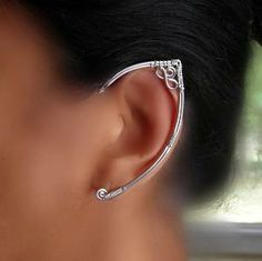 The nerd in me LOVES this!  Silver Elf Ears!!