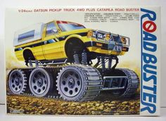 G2-006. motorized ROADBUSTER DATSUN PICKUP TRUCK with 4WD Caterpillar Treads.