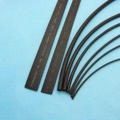 2mm ~ 12mm Heatshrink Calor Shrink Tubo Negro Mangas Envoltura de cable Cable de aislamiento