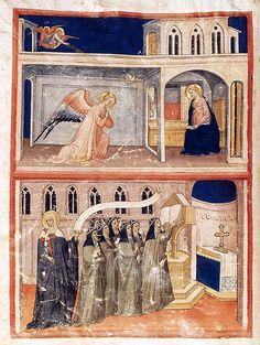 Lippo d'Andrea di Lippo - Graduale di Santa Brigitta (frontespizio) - c. 1435 -  tempera e oro su pergamena - Bernard H. Breslauer, New York