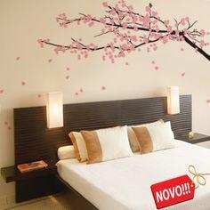 Adesivo de Parede - Árvore Sakura