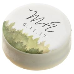 #monogrammed - #Rustic Ombre Watercolor Forest Wedding Favor