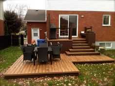 garten landhaus Patio Plus - Cedar Deck Patio Plus - Cedar Deck Deck With Pergola, Pergola Patio, Backyard Patio, Patio Decks, Pergola Kits, Decking, Patio Deck Designs, Patio Design, Patio Plus