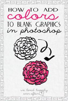 Nos vivieron felices para siempre: Cómo agregar color a sus gráficos digitales en Photoshop